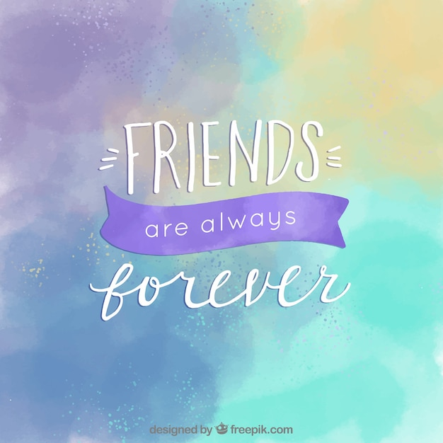 Watercolor background of friendship day Vector | Free Download
