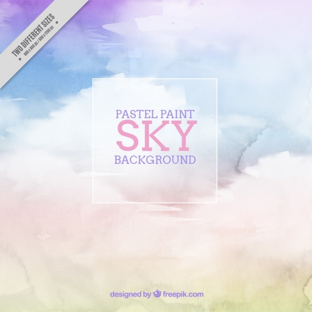 Watercolor background of sky in pastel\ colors