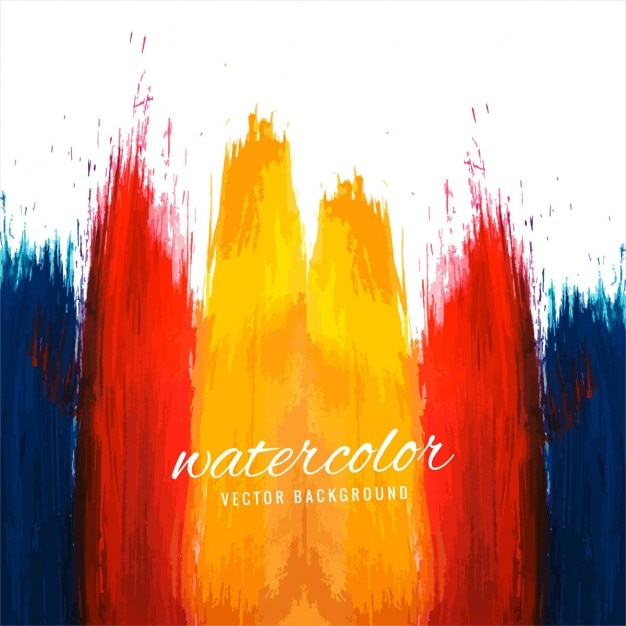 Watercolor background painted with different colors Free Vector