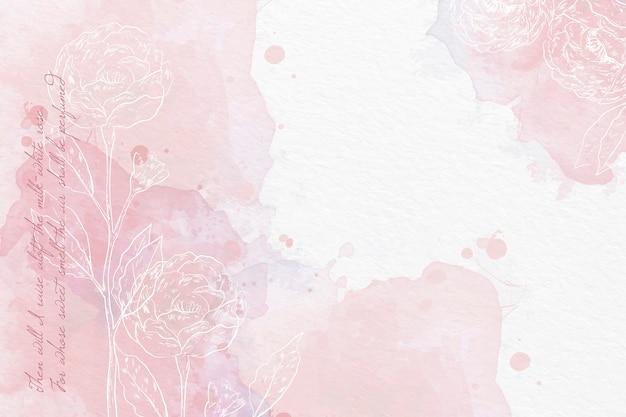 Sfondo ad acquerello in colori pastello Vettore gratuito