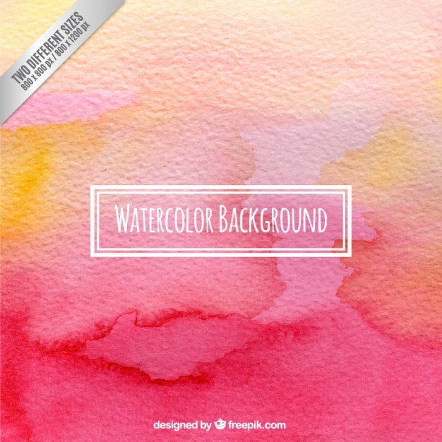 Watercolor background in pink and orange tones Free Vector
