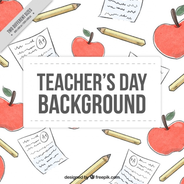Watercolor background to celebrate the\ teacher\'s day