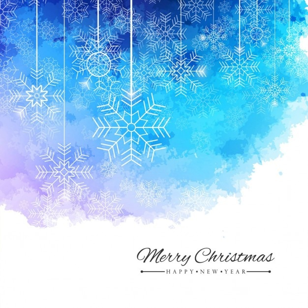 christmas watercolor background