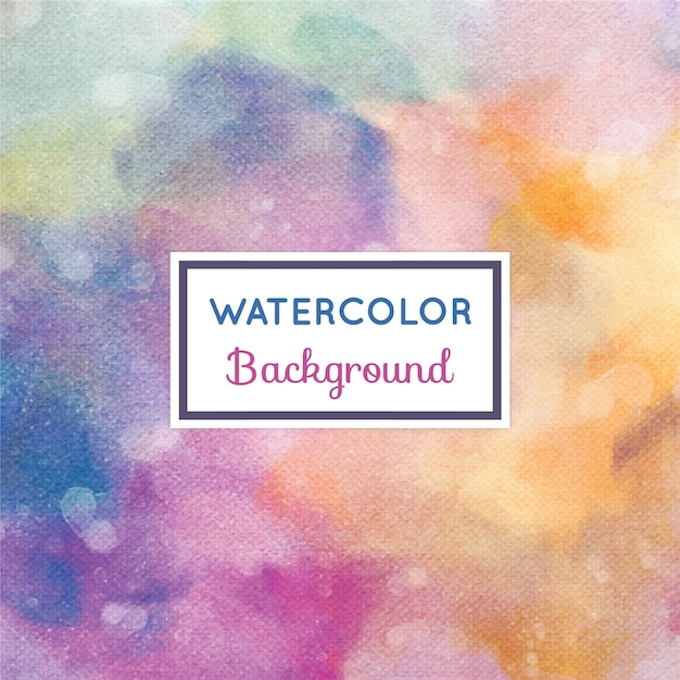 Watercolor background with frame Premium Vector