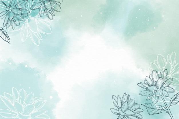 Акварельный фон с рисованной элементами Бесплатные векторы