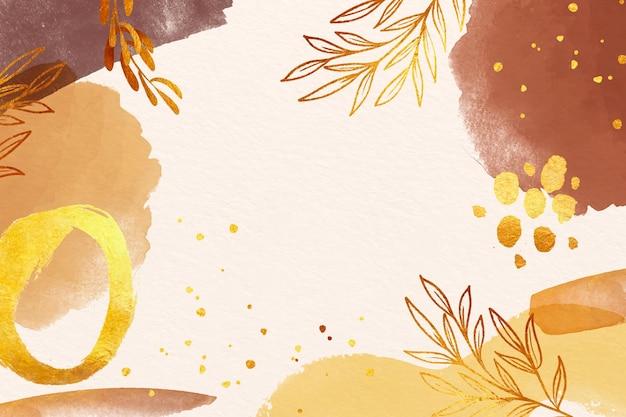 Sfondo acquerello con foglie in colori pastello Vettore gratuito