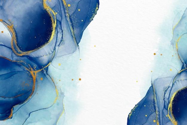 Sfondo acquerello con lussuosi accenti dorati Vettore gratuito
