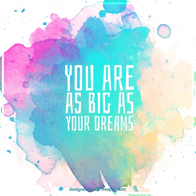 Download Vector - Motivational quote background with watercolor ...