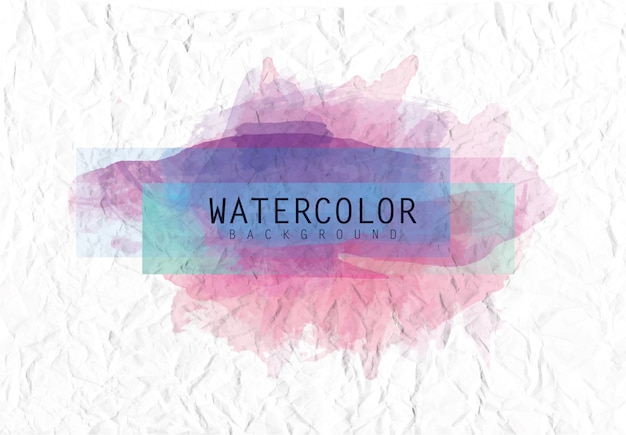 Watercolor background with paper texture Premium Vector