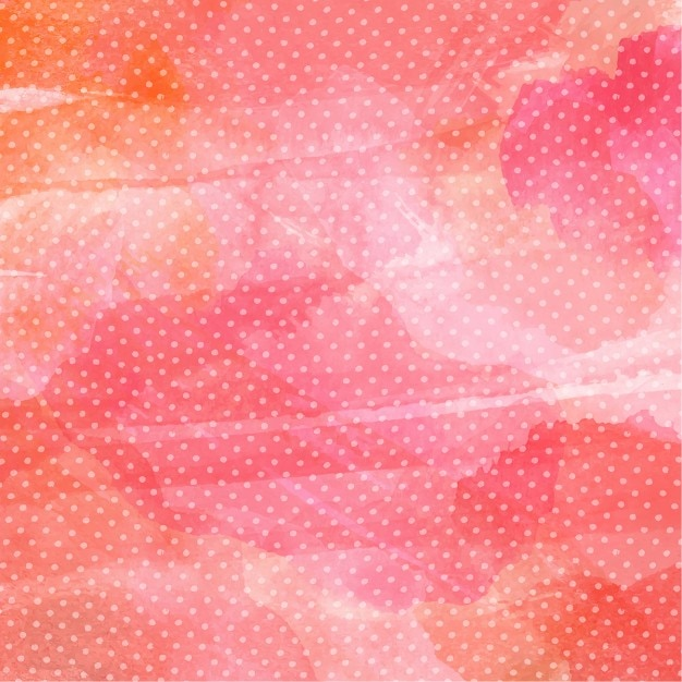 Watercolor background with polka dot pattern Free Vector