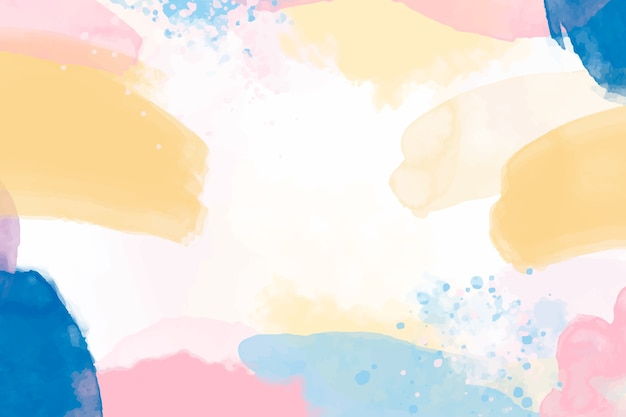 水彩画の背景 無料ベクター