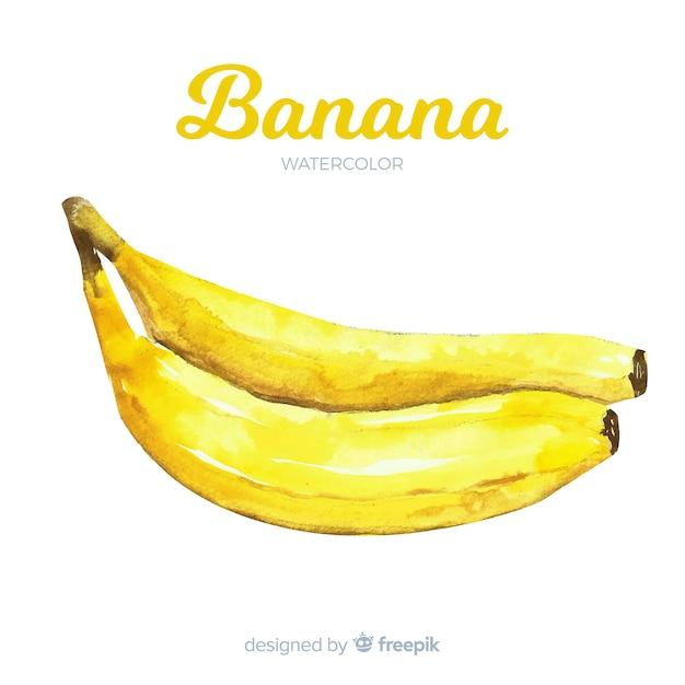 Watercolor banana Free Vector
