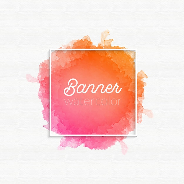 Watercolor banner gradient stain Free Vector