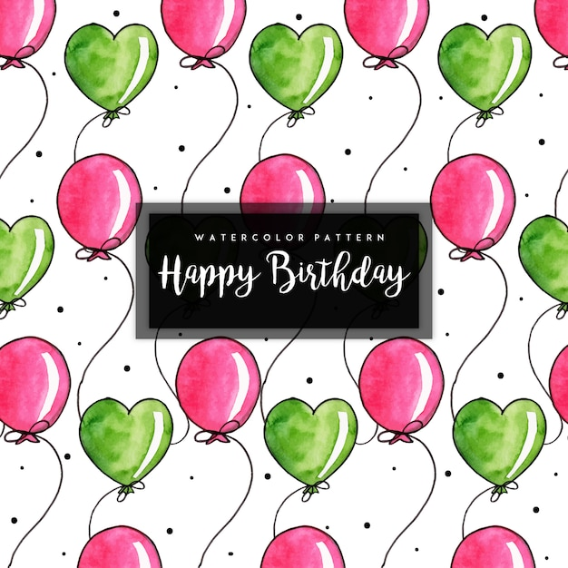 Watercolor birthday pattern background Premium Vector