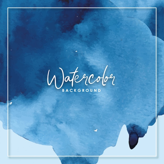 Watercolor blue brush abstract background Premium Vector