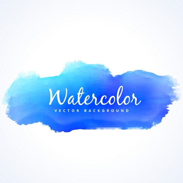 Watercolor blue stain Free Vector