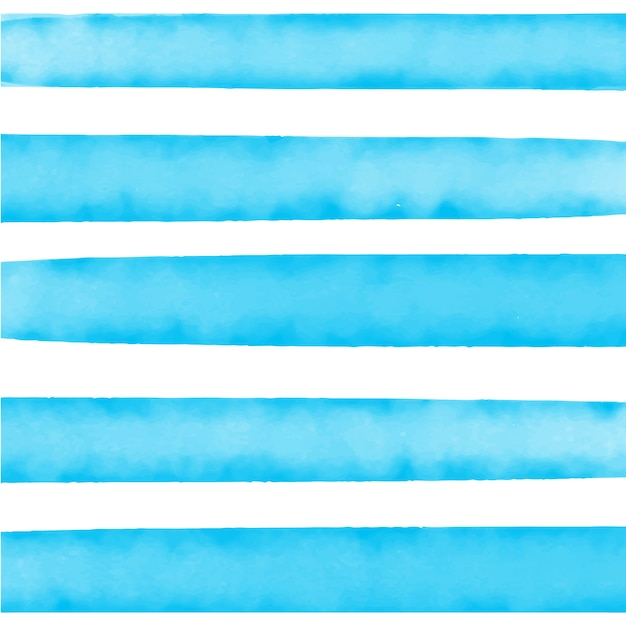 Watercolor blue striped background Free Vector
