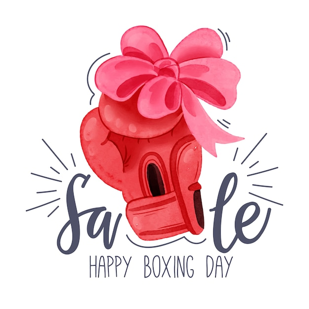 Watercolor boxing day sale concept Free Vector
