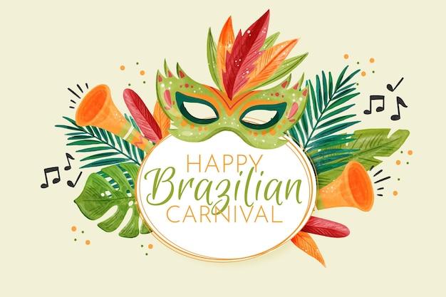 Акварельная концепция бразильского карнавала Бесплатные векторы