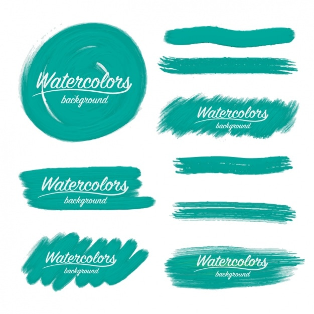 Watercolor brush strokes design vector free download Blueprint designer free