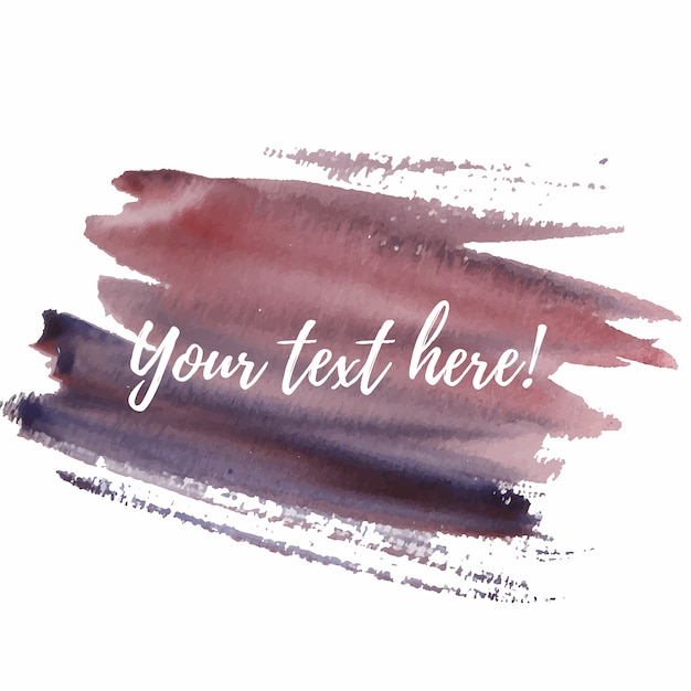 Watercolor brushes with text template