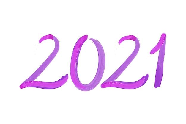 Priorità bassa del nuovo anno 2021 di pennellata dell'acquerello Vettore gratuito