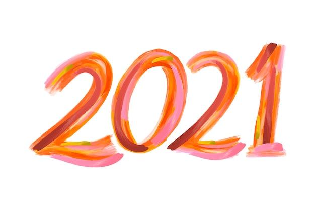 Акварель мазок новый год 2021 фон Бесплатные векторы
