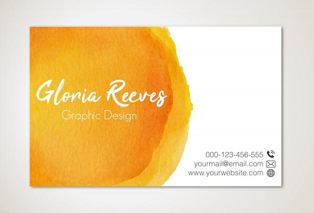 Watercolor business card template Premium Vector