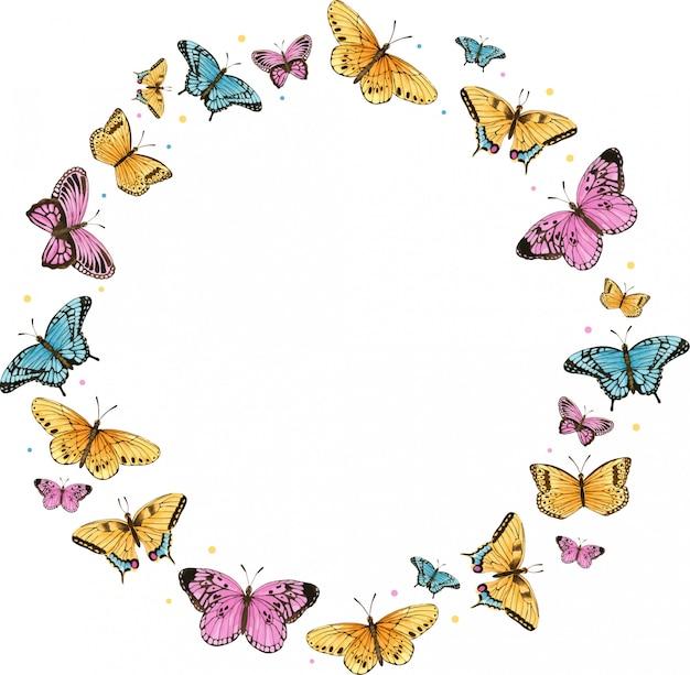 Акварельная бабочка Premium векторы