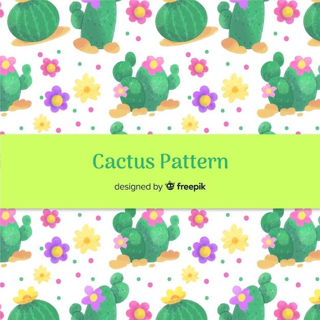 Акварельный рисунок кактуса Бесплатные векторы