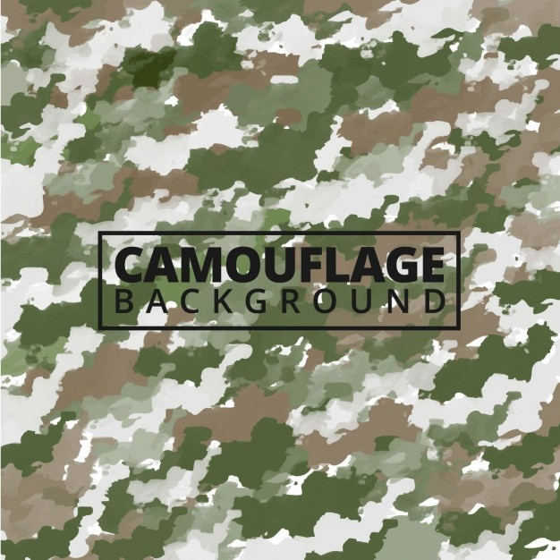 Watercolor camouflage background Free Vector