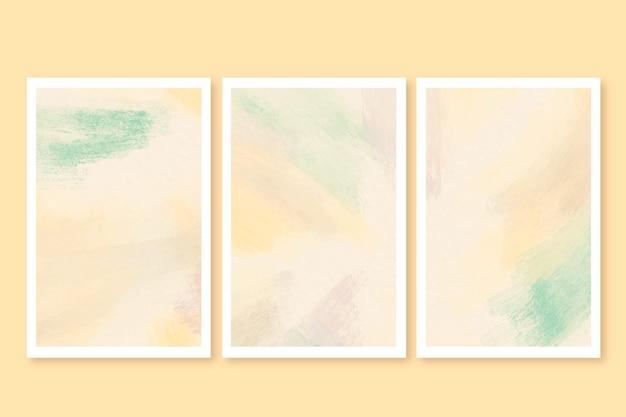 Set di carte dell'acquerello Vettore gratuito
