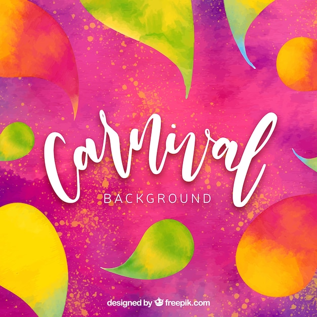 Watercolor carnival background Free Vector