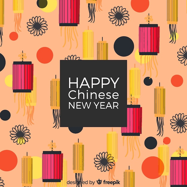 Watercolor chinese new year 2019 background Free Vector