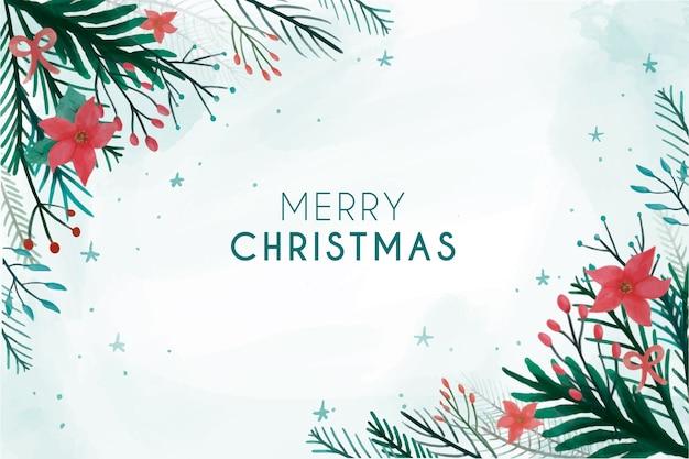 수채화 크리스마스 배경 무료 벡터