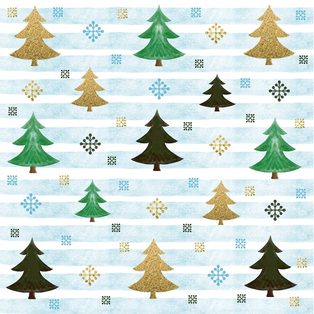 Watercolor christmas background Premium Vector