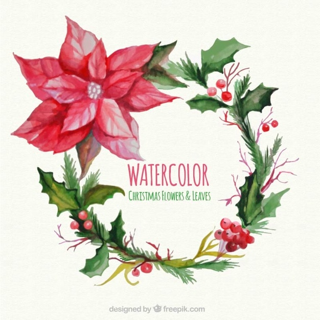 Watercolor Christmas Card Free Vector