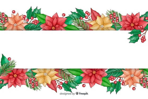 Watercolor christmas event background Free Vector