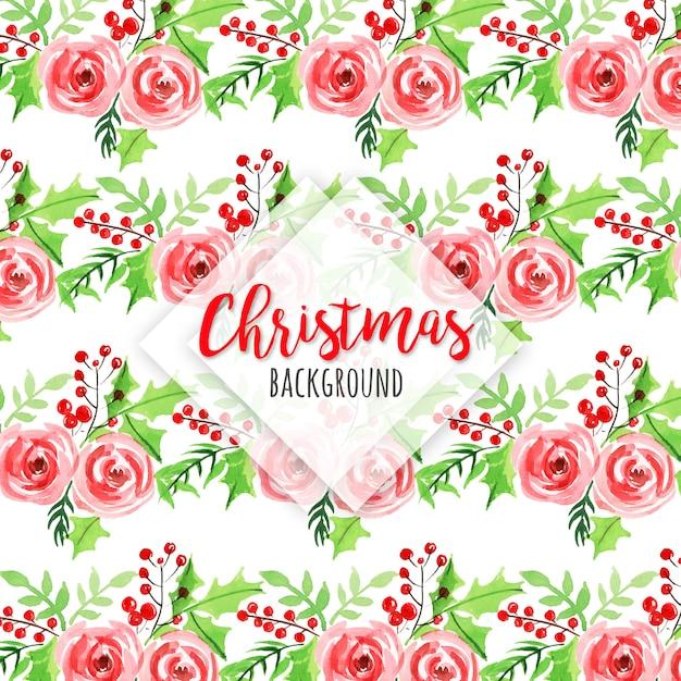 Акварель рождественский шаблон фон Premium векторы
