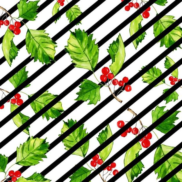 Акварель рождественская полоса цветочный фон Premium векторы