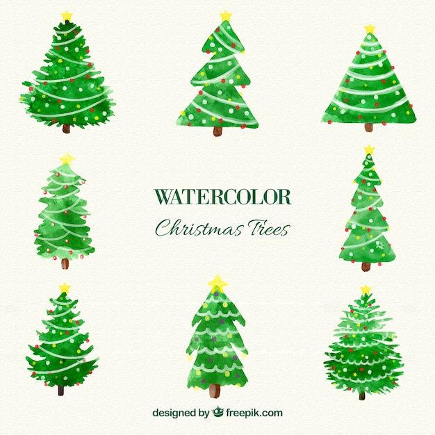 Watercolour Christmas Tree: Watercolor Christmas Tree Vector