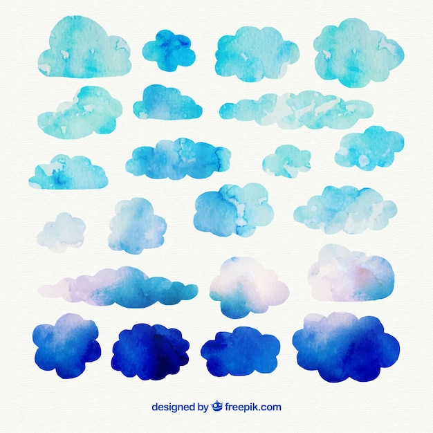 free vector watercolor clouds free vector watercolor clouds