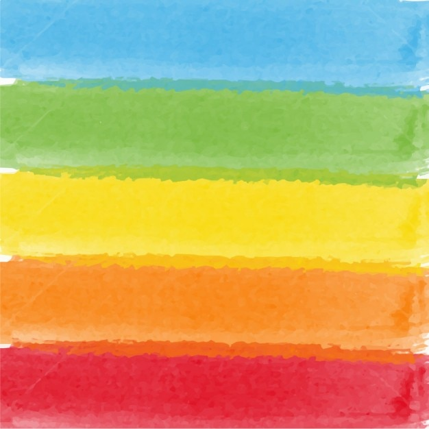 Watercolor colored bars Free Vector