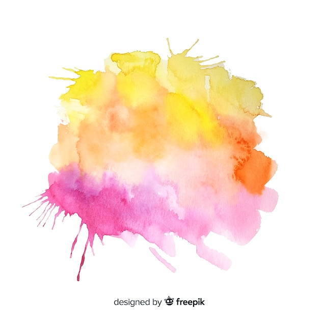 Watercolor colorful splash background Free Vector