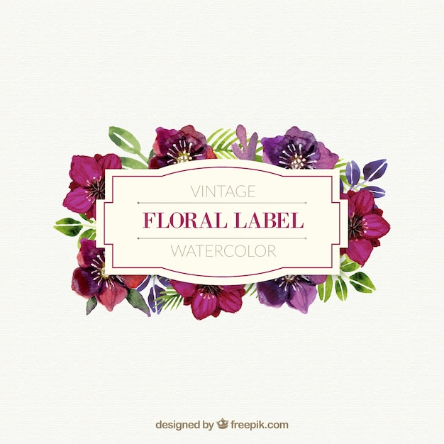 Flower Label Vectors, Photos And Psd Files | Free Download