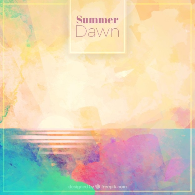 Watercolor dawn background Free Vector