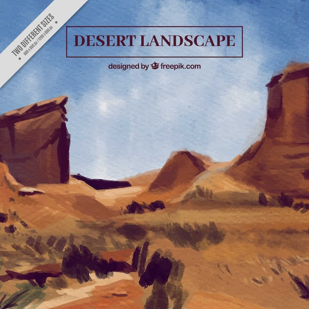 Watercolor desert background