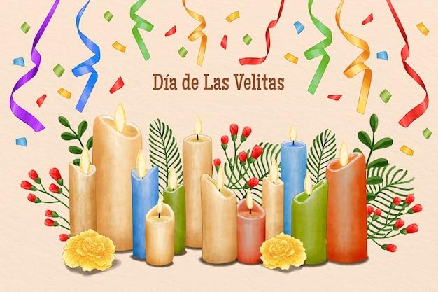 水彩ディアデラスベリタスのお祝い 無料ベクター