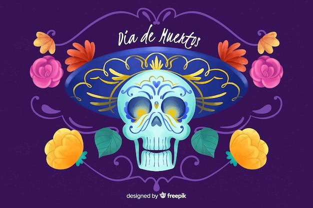 Watercolor dia de muertos background Vector | Free Download