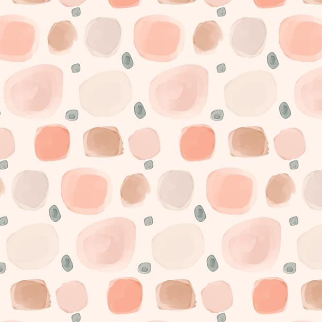 淡いピンクの色合いの水彩画のドットパターン 無料ベクター